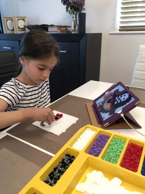Making a Hama bead pirate