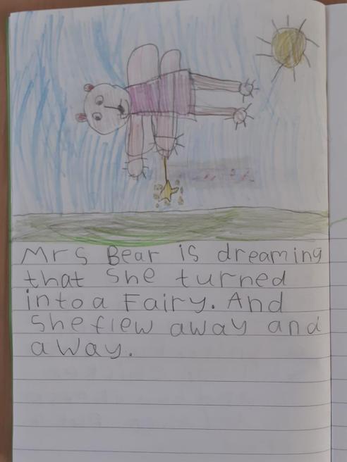 Bella's writing on Mrs Bear's dream