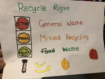 Spencer's recycling poster