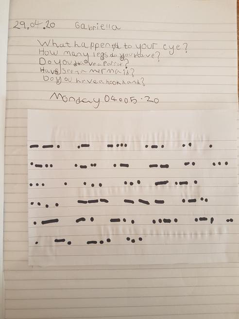 Gabriella's Morse code