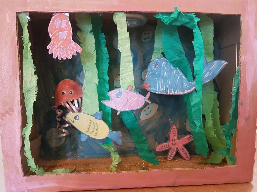 Gabriella's sea diorama