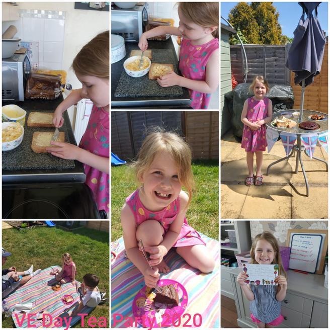 Pippa preparing and celebrating VE Day