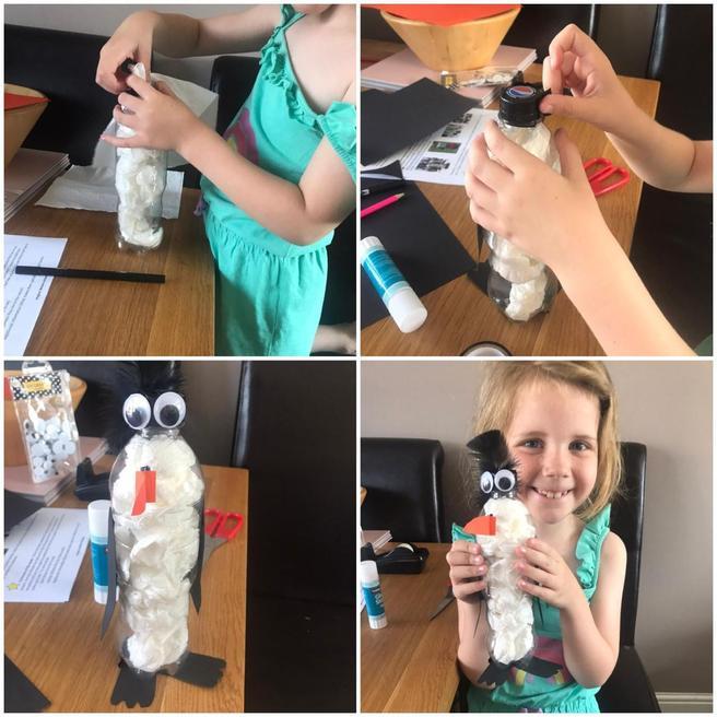 Pippa's homemade penguin