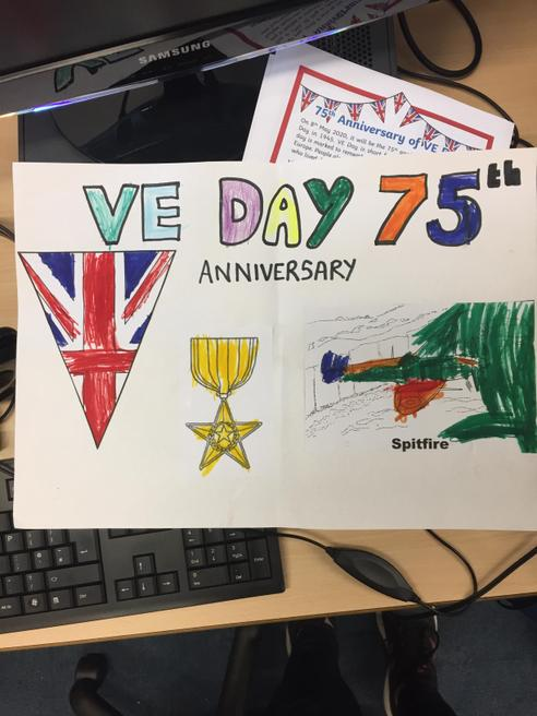 Charlie's VE Day poster
