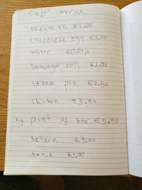 Ethan's menu