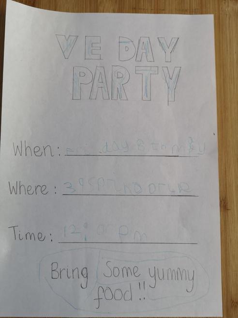 Olly's invitation