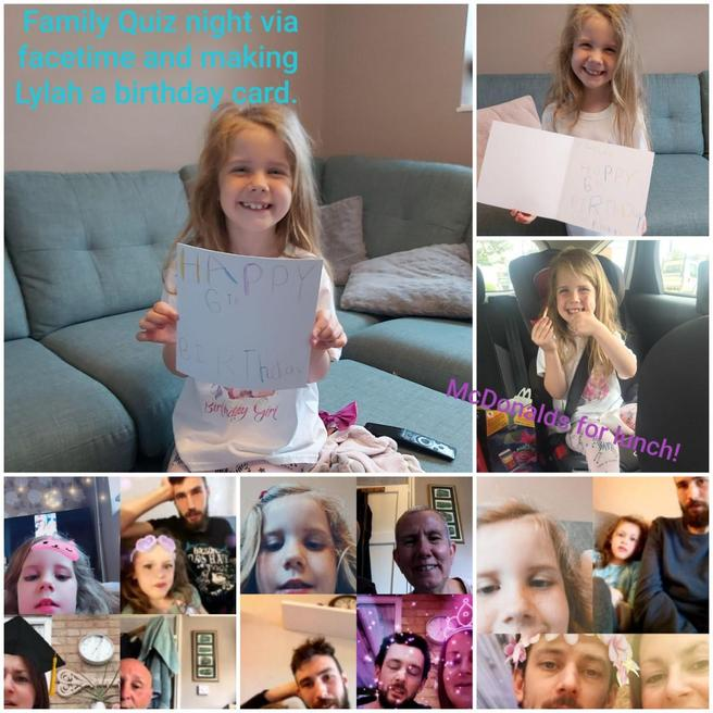 Pippa's family quiz and card for Lylah