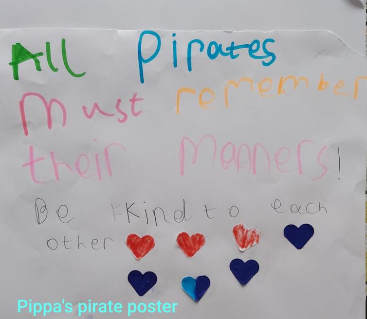Poster to remind pirates to have good manners