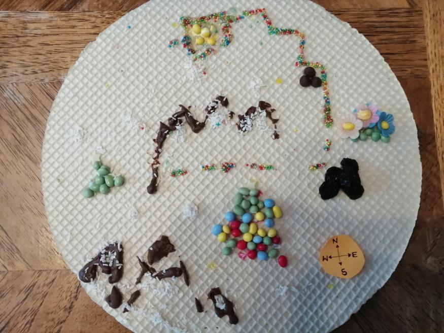Emilia's edible treasure map