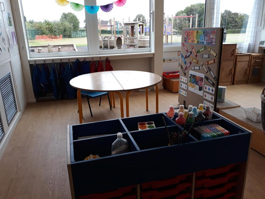 Come and be creative in our art area!