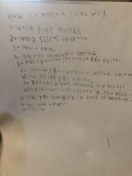Spencer's instructions on how to make a sandwich