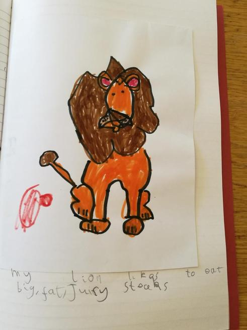 Ethan's work on lions