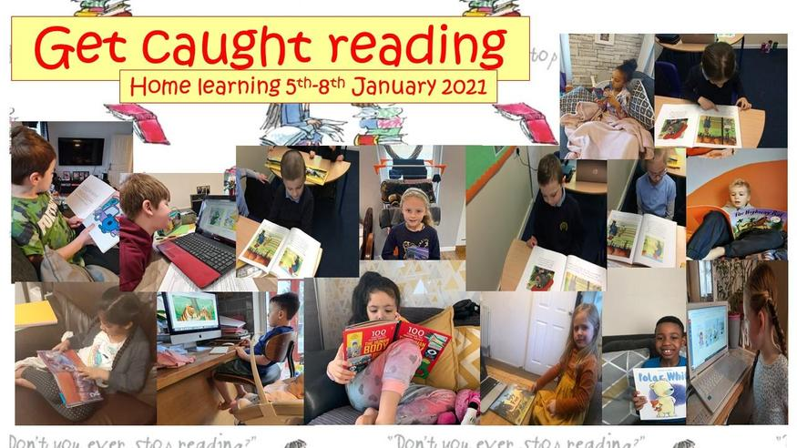 This week as part of home learning we have been caught reading.