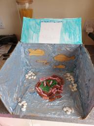 Lilly's ocean diorama