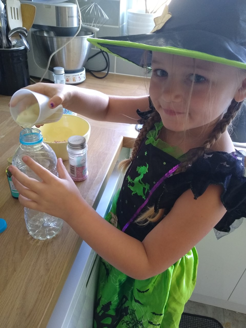 Sofia mixing her potions