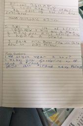 Joshua's sentences and questions