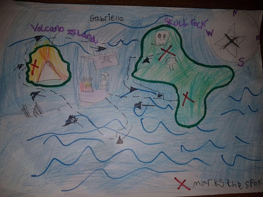 Gabriella's treasure map