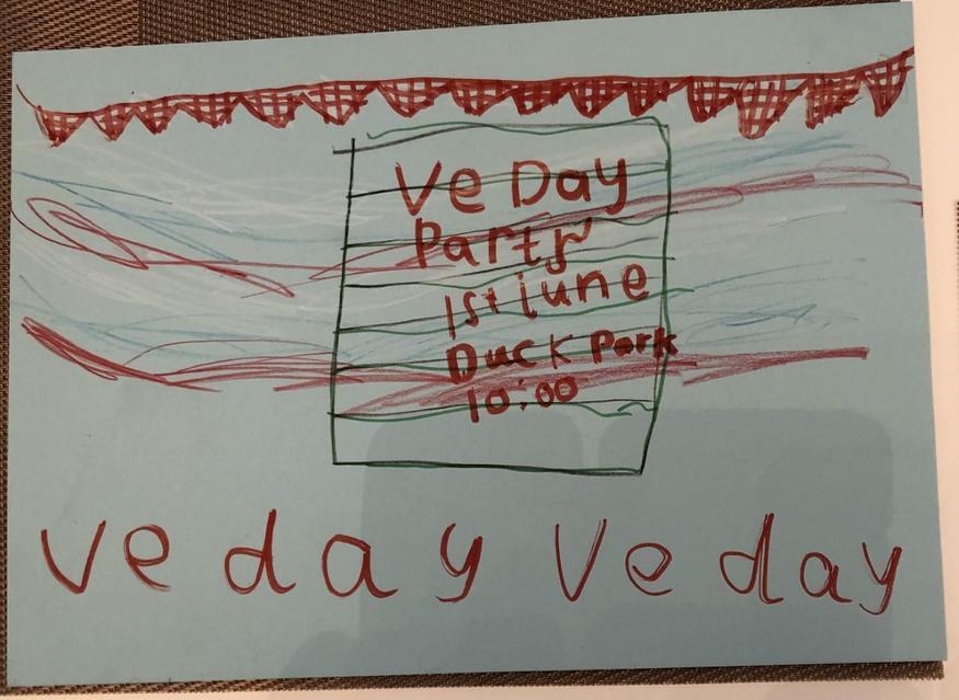 Bella's VE Day invitation