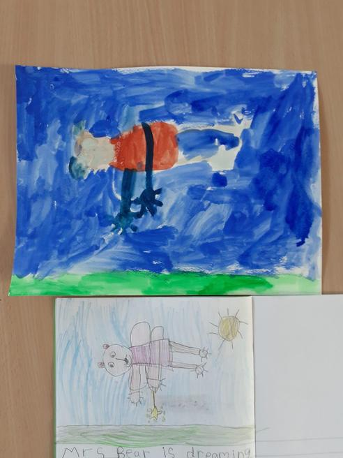 Bella's picture of Mrs Bear's dream