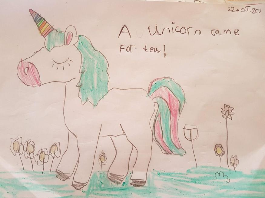 Gabriella's unicorn picture