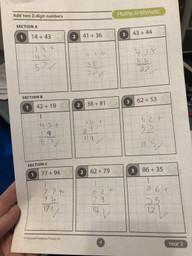 Spencer C maths work