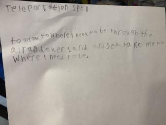 Spencer's teleportion spell