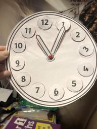 Spencer's homemade clock