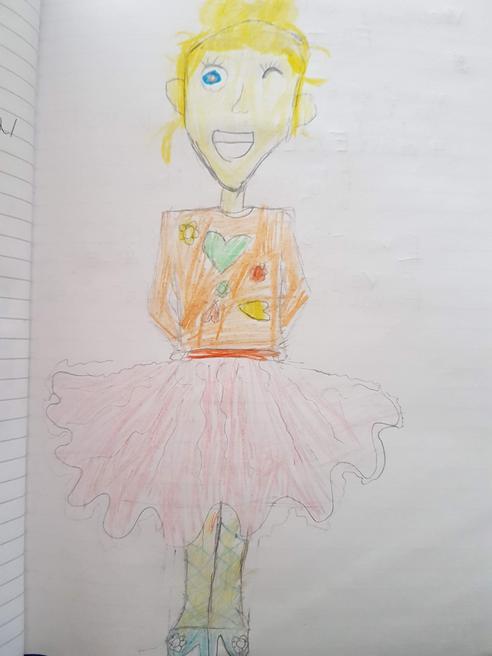 Gabriella's self-portrait