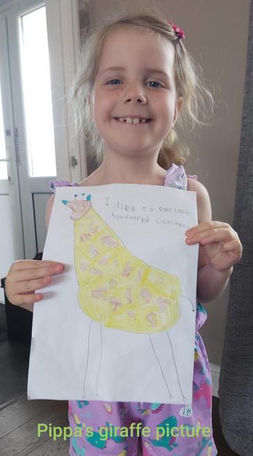 Pippa's giraffe pictures
