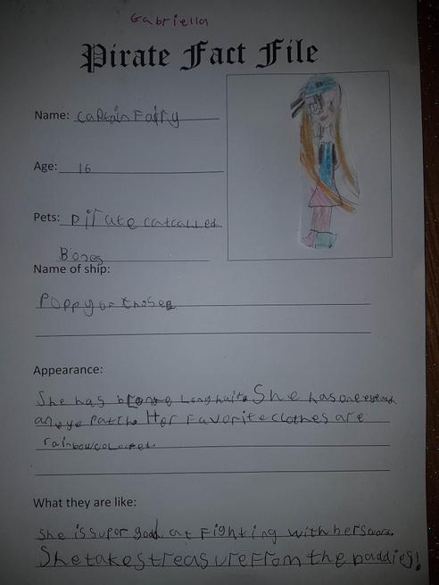 Gabriella's pirate fact file