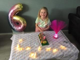 Amelia celebrating her birthday
