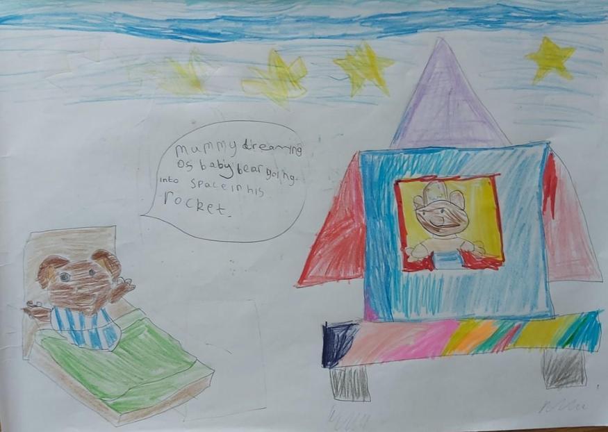Pippa's idea of Mrs Bear dreaming