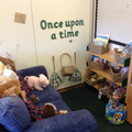 Come and read in our cosy book area.
