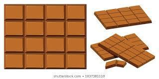 The chocolate bar is showing 4 x 4