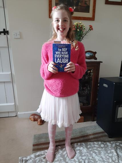 Dressing up Chloe from The Boy who made everyone laugh