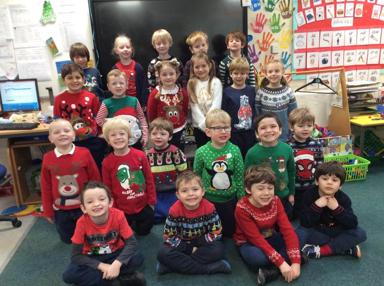 Oak class are rocking their crazy Christmas jumpers!