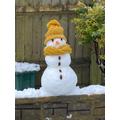 Wait!  Who build this snowman?