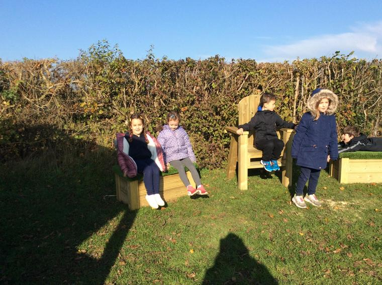 We had our first lesson in the new outdoor classroom