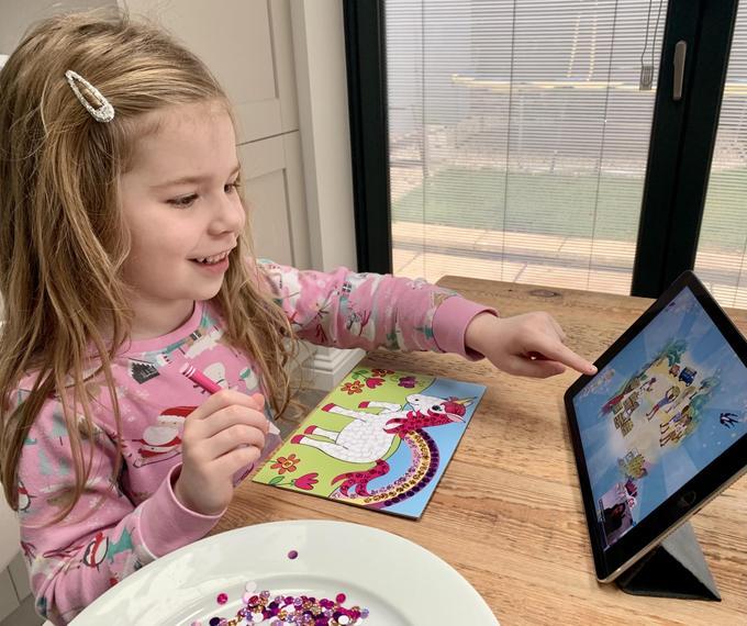 Enjoying a virtual author visit