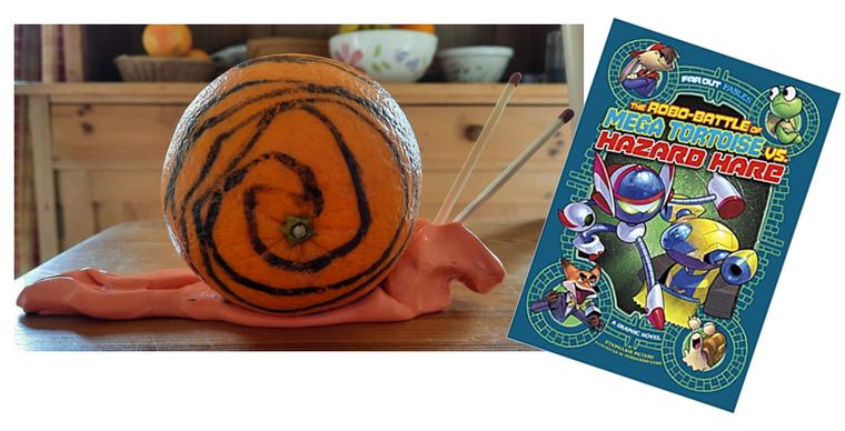 Snail from Far Out Fables: The Robo-battle of Mega Tortoise vs Hazard Hare