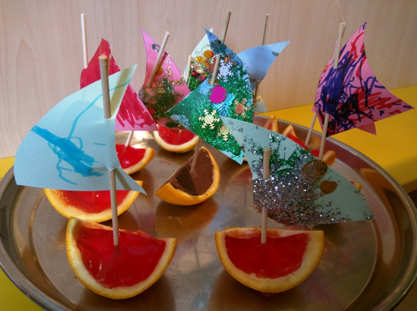 Orange Jelly Boats