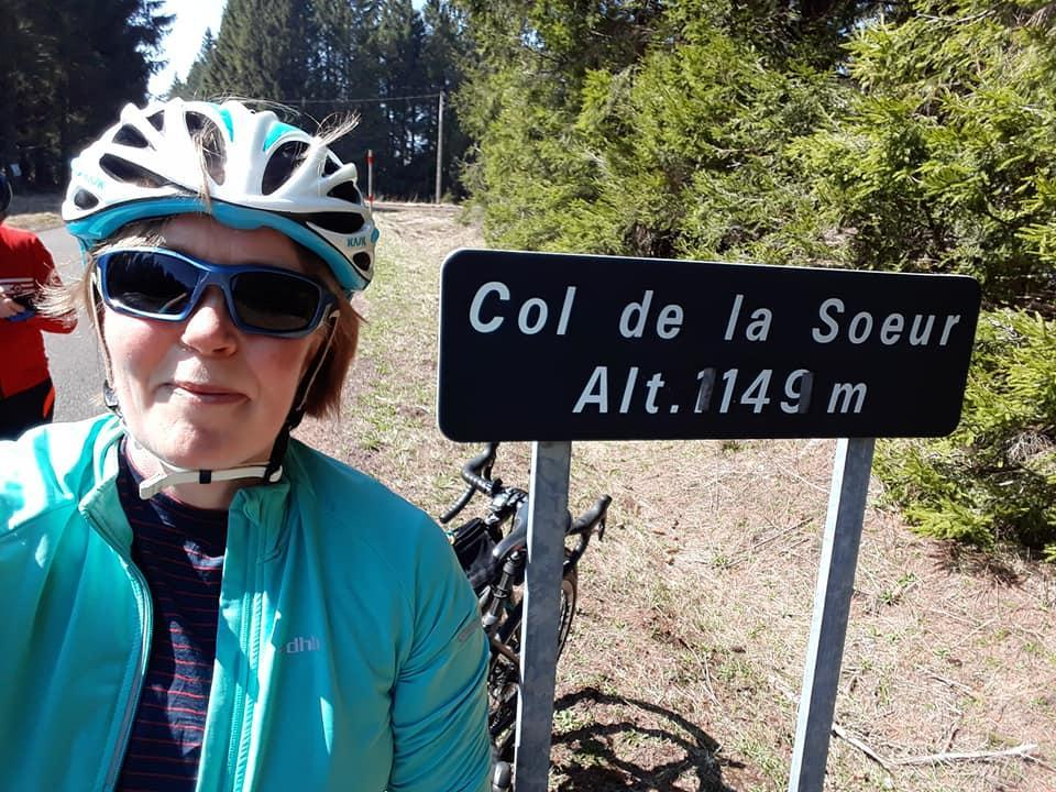 Mrs Lee climbed 3 mountains in one day.. 65miles!