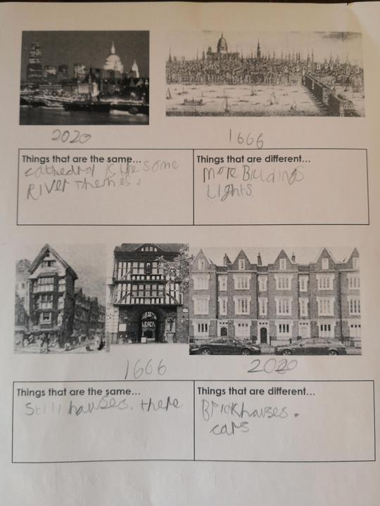 Which picture is from 1666?