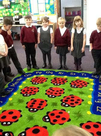Colourful rug for KS1