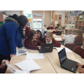 Children enjoyed working together on Scratch