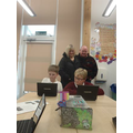 Class SH parents watch children on Scratch
