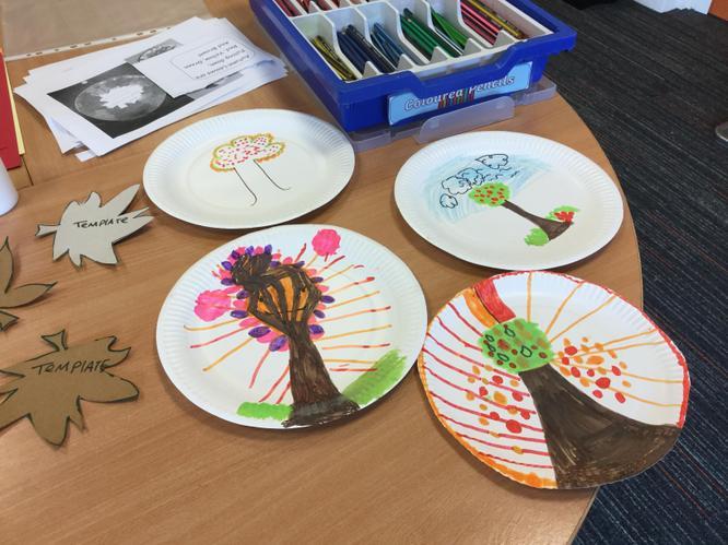 Autumn plates