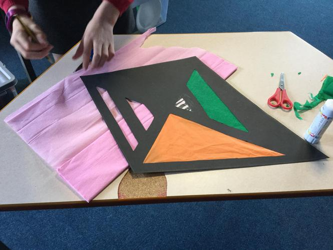 Stain glass kite