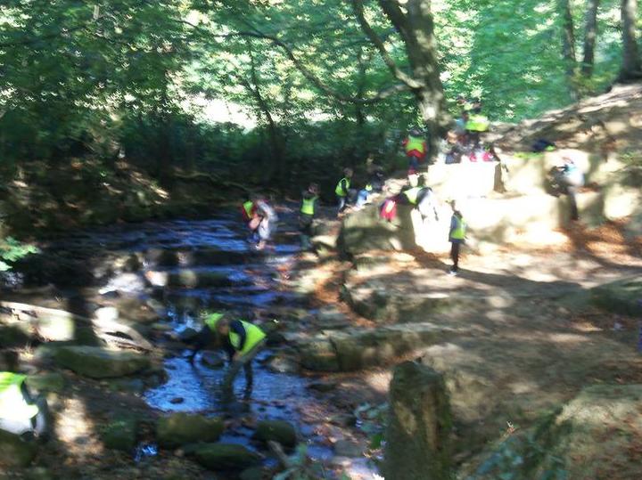 River walking.