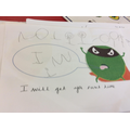 Writing about the evil pea.